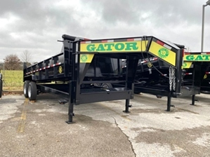 Dump Trailer Gooseneck 16000 lb GVWR  Dump Trailer Gooseneck 16000 lb GVWR. Heavy duty design, 8k dexter axles coupled with 17.5in commercial series tires, and LED work light bar on neck.