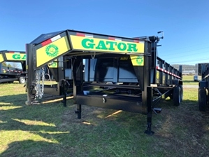 Dump Trailer 16ft Gooseneck 16k By Gator  Dump Trailer 16ft Gooseneck 16k By Gator. Dual jacks, barn door/ spread door, and power up/ power down.